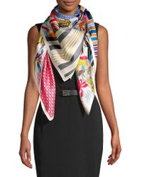 Echo - Mixed-print Silk Scarf - Lyst