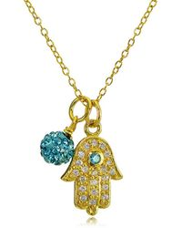 Lord & Taylor - Goldtone Hamsa Hand And Fireball Pendant Necklace - Lyst
