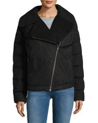 Sorel - Wool-blend Sherpa Collar Moto Jacket - Lyst