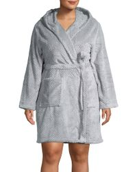 Lord & Taylor - Hooded Long-sleeve Robe - Lyst