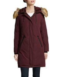 Vince Camuto - Hooded Faux Fur-trimmed Down Coat - Lyst