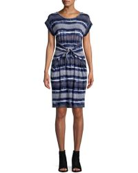 Jones New York - Printed Cap-sleeve Dress - Lyst
