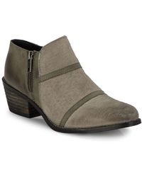 Charles David - Farren Leather Ankle Booties - Lyst