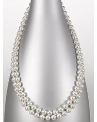 Majorica - 8mm White Pearl Strand Necklace - Lyst