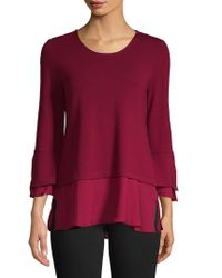 Jones New York - Romantic Bell-sleeve Top - Lyst
