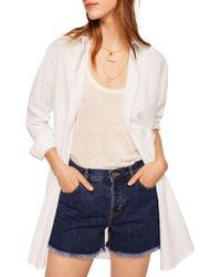 Mango - Lines Long Cotton Button-down Shirt - Lyst