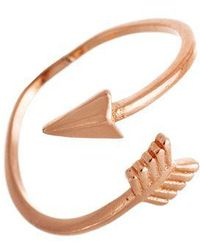 Lord + Taylor Rose Goldtone Arrow Ring