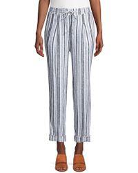 Jones New York - Self-tie Linen Trousers - Lyst