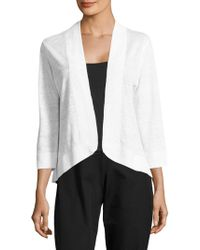 Tommy Bahama - Open Front Knitted Linen Cardigan - Lyst