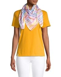 Laundry by Shelli Segal Watercolor Striped Scarf