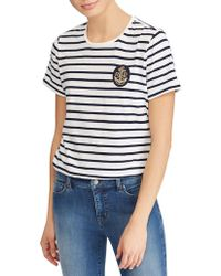 Lauren by Ralph Lauren - Striped Short Sleeve Tee - Lyst