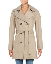 Via Spiga - Double Breasted Trench Coat - Lyst