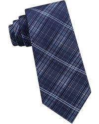 CALVIN KLEIN 205W39NYC - Plaid Silk Tie - Lyst