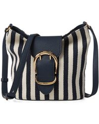 Lauren by Ralph Lauren Striped Bucket Bag