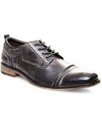 Steve Madden - Burnished Leather Cap-toe Oxfords - Lyst