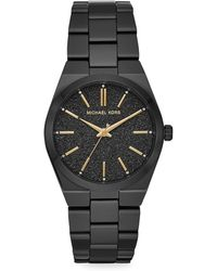 Michael Kors - Channing Black-tone Watch - Lyst
