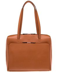 Lodis - Audrey Under Lock And Key Top Zip Leather Tote - Lyst