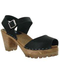 MIA - Greta Leather Ankle Strap Platform Sandals - Lyst