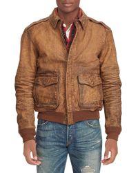 Polo Ralph Lauren - Leather Bomber Jacket - Lyst