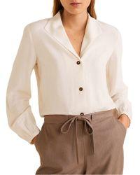 Mango Camp-collar Button-down Shirt