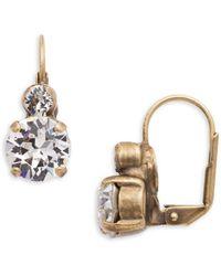 Sorrelli - Core Round Swarovski Crystal Earrings - Lyst