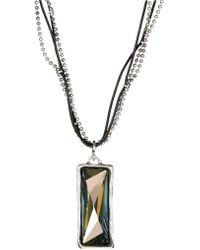 Uno De 50 Rhinestone Pendant Necklace - Metallic