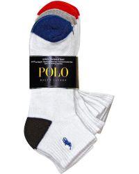 Polo Ralph Lauren - Heel Toe Arch Support Quarter Socks Set - Lyst e3df9beb496