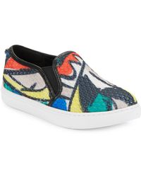 Botkier - Hayley Textured Leather Slip-on Trainers - Lyst