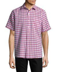 Tommy Bahama - Gingham Del Toro Stretch Linen Camp Shirt - Lyst