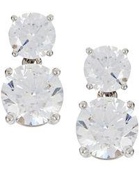 Nadri - Rhinestone Drop Earrings - Lyst