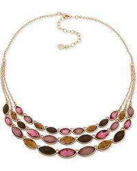 Anne Klein - Crystal Statement Necklace - Lyst