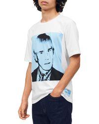 Calvin Klein - Regular-fit Warhol Portrait Graphic Tee - Lyst