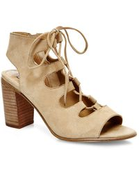 Steve Madden - Nilunda Suede Lace-up Sandals - Lyst