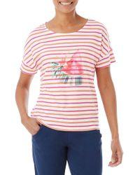 Olsen - Multi-stripe Watermelon Tee - Lyst