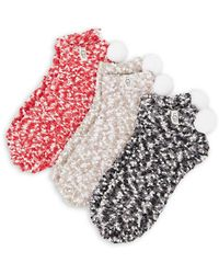 UGG - Three-piece Pom-pom Chenille Ankle Sock Set - Lyst