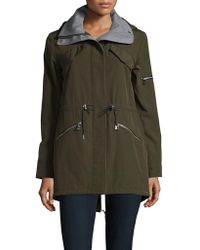 Vince Camuto - Olive Zipped Jacket - Lyst