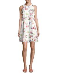 CALVIN KLEIN 205W39NYC - Floral Sleeveless Mini Dress - Lyst