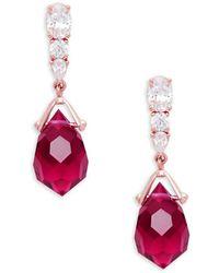 Nadri - Brilette Drop Ruby Rose Earrings - Lyst