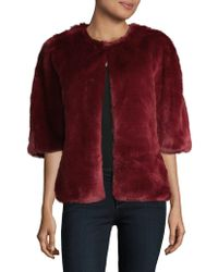 Adrianna Papell - Faux Fur Two-way Wrap Jacket - Lyst