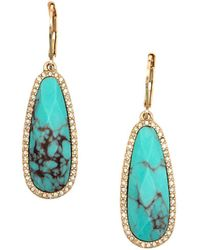 Lonna & Lilly - Reconstituted Calcite Teardrop Earrings - Lyst