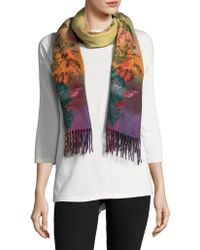 Lord & Taylor - Floral Scarf - Lyst