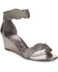 Adrianna Papell - Adelaide Metallic Wedge Sandals - Lyst