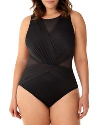 1bc55e700f3c6 Miraclesuit - Plus Illusionists Palma One-piece Swimsuit - Lyst