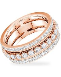 Swarovski - Rose-goldtone And Crystal Ring - Lyst