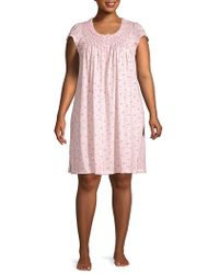 Miss Elaine - Ditsy Print Sleep Shirt - Lyst