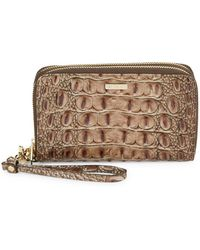 Brahmin - Zora Leather Zip-around Wristlet - Lyst