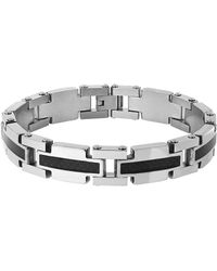Lord & Taylor - Two-tone Link Bracelet - Lyst