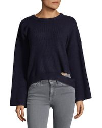 Lord & Taylor - Dropped Wide Sleeve Sweater - Lyst