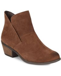 Me Too - Zena Suede Booties - Lyst