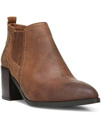Fergie - Magic Distressed Leather Bootie - Lyst